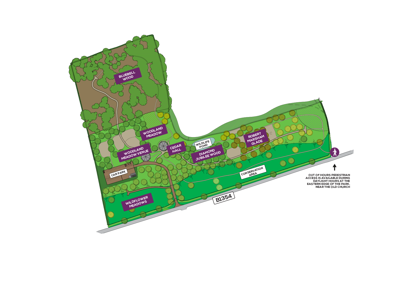 Norfolk Bluebell Wood Site Plan